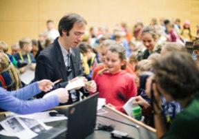 Kinderuni am 07.11.2017 im Hoersaalzentrum von Technische Universitaet Dresden ( TUD ) in Dresden . Foto: Oliver Killig